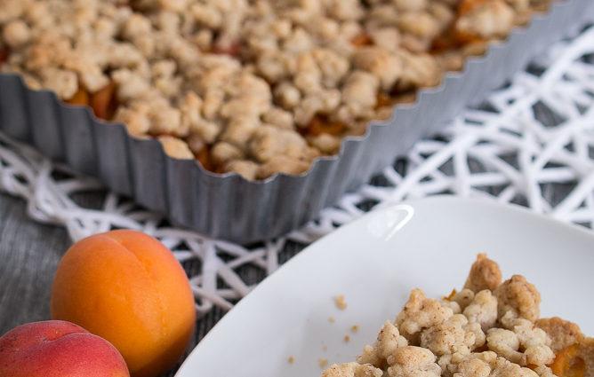 Aprikosentarte mit Streuseln Zimt Rezept Kuchen einfach backen