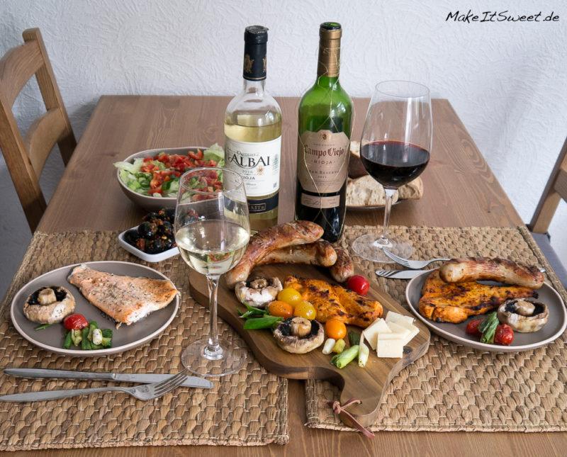 Rioja fuer Weingeniesser Grillabend Grillspass Weinbeleitung