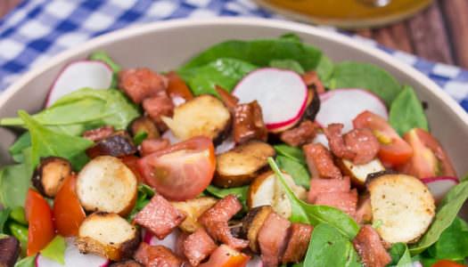 Oktoberfest Brezel-Fleischkäse-Salat Rezept