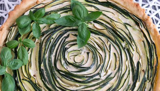 Zucchini Tarte mit Basilikum Rezept