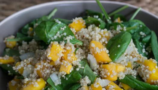 Butternut-Quinoa-Spinat Kürbissalat Rezept