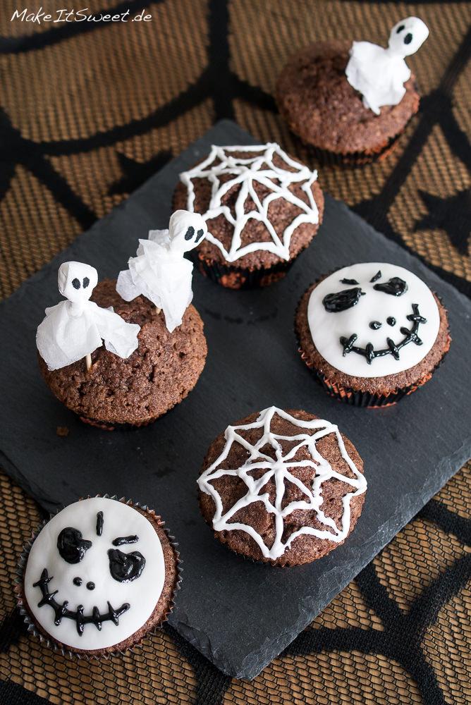 Einfach halloween muffins dekorieren - Halloween dekoration selber basteln ...