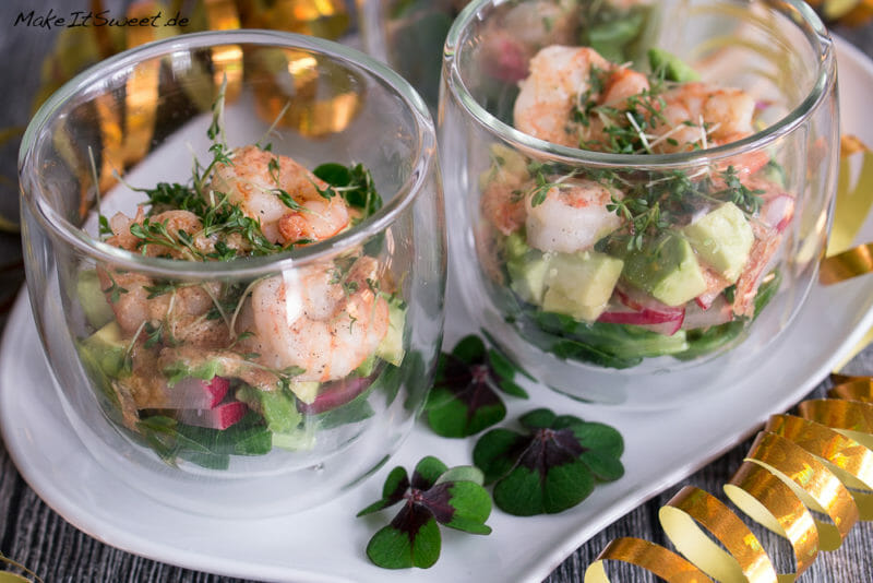 Garnelen Cocktail Salat im Glas Rezept - MakeItSweet.de