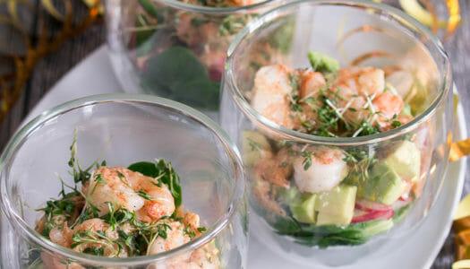 Garnelen Cocktail Salat im Glas Rezept
