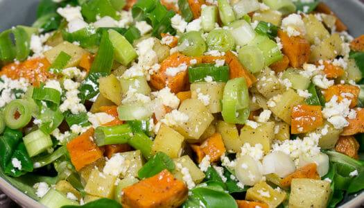 Ofenkartoffel-Salat mit Feta Rezept