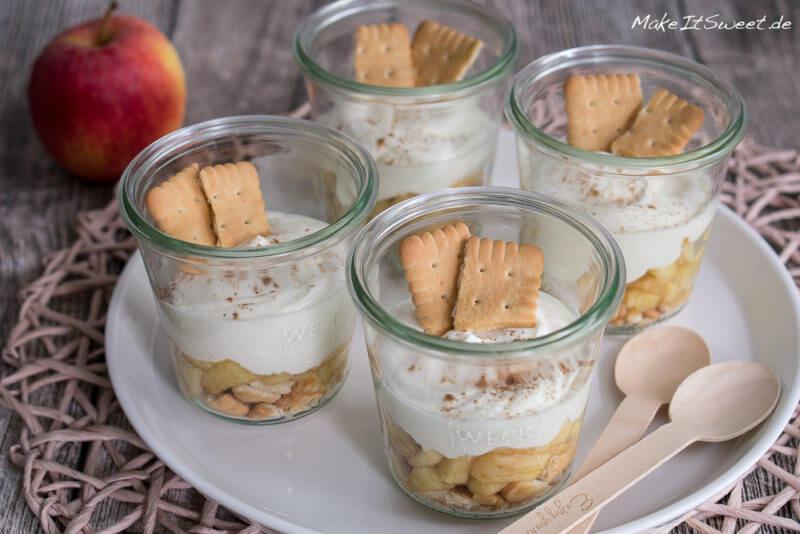 Apfel Käsekuchen Dessert Im Glas Rezept Makeitsweetde
