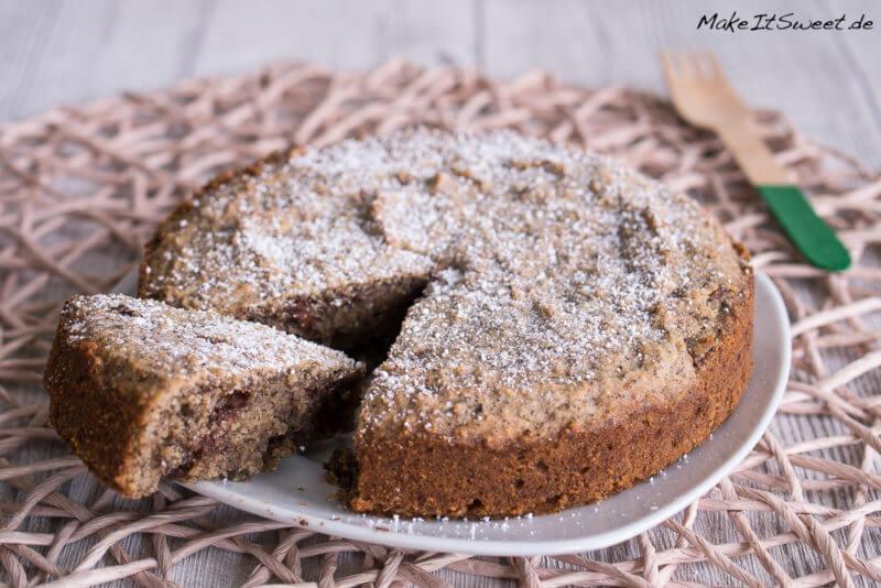Haselnusskuchen ohne Mehl mit Schokolade
